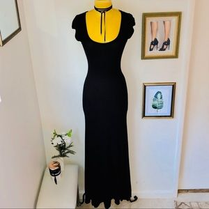 BCBGMaxAzria S/S Black Maxi Dress Size XS